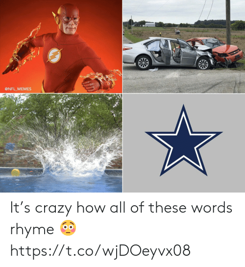 Crazy, Football, and Memes: @NFL MEMES It's crazy how all of these words rhyme 😳 https://t.co/wjDOeyvx08