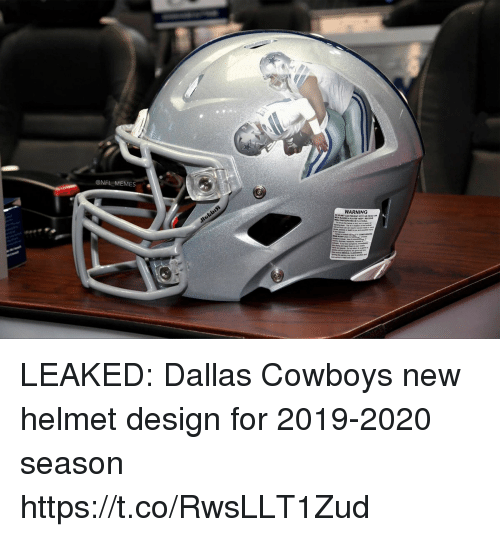 Dallas Cowboys, Football, and Memes: @NFL MEMES  WARNING LEAKED: Dallas Cowboys new helmet design for 2019-2020 season https://t.co/RwsLLT1Zud
