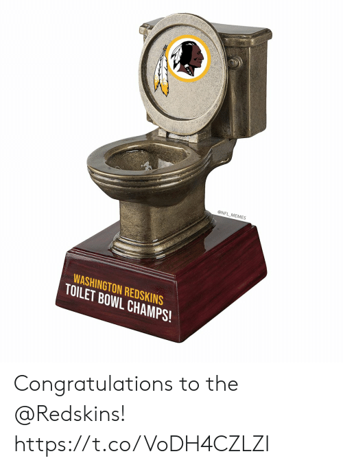washington: @NFL MEMES  WASHINGTON REDSKINS  TOILET BOWL CHAMPS! Congratulations to the @Redskins! https://t.co/VoDH4CZLZI