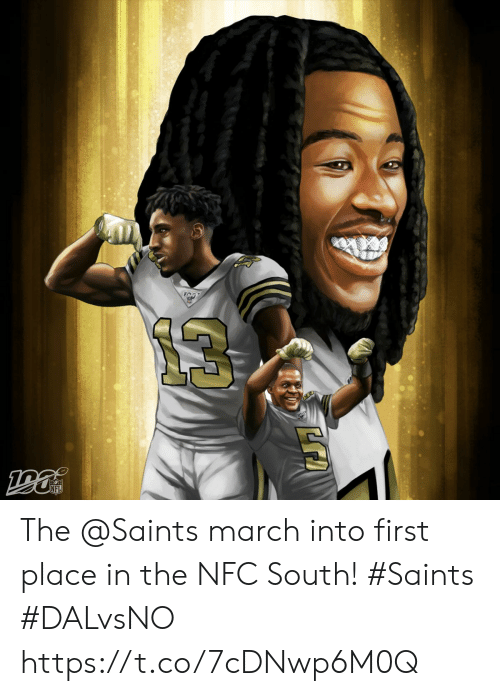 Memes, Nfl, and New Orleans Saints: NFL The @Saints march into first place in the NFC South!  #Saints #DALvsNO https://t.co/7cDNwp6M0Q