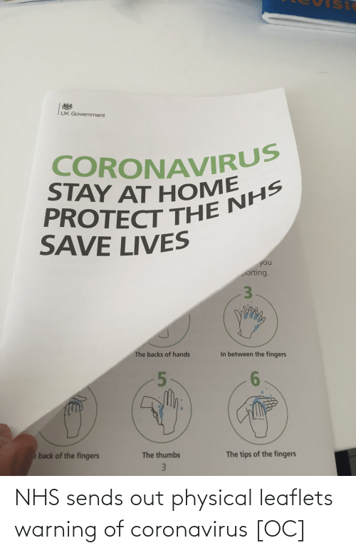 Physical: NHS sends out physical leaflets warning of coronavirus [OC]