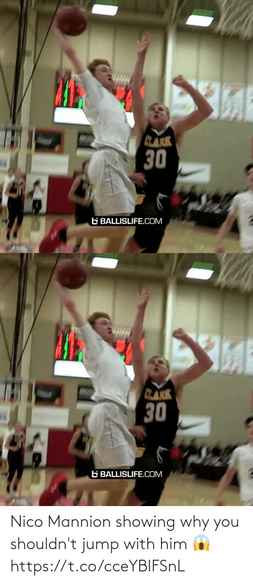jump: Nico Mannion showing why you shouldn't jump with him 😱 https://t.co/cceYBIFSnL