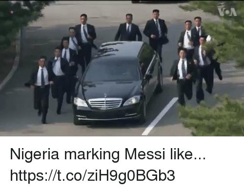 Soccer, Messi, and Nigeria: Nigeria marking Messi like... https://t.co/ziH9g0BGb3