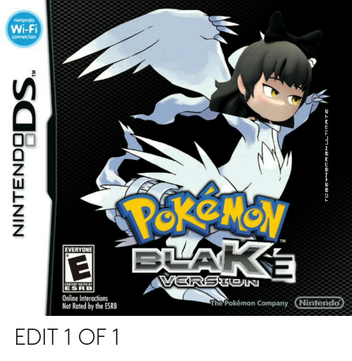 Nintendo, Pokemon, and Content: nintendo  Wi-Fi  connection  PekeMoy  BLAKE  TM  EVERYONE  VERSTEIN  CONTENT RATED BY  ESRB  Online Interactions  Not Rated by the ESRB  The Pokémon Company Nintendo  INTENDSDS EDIT 1 OF 1