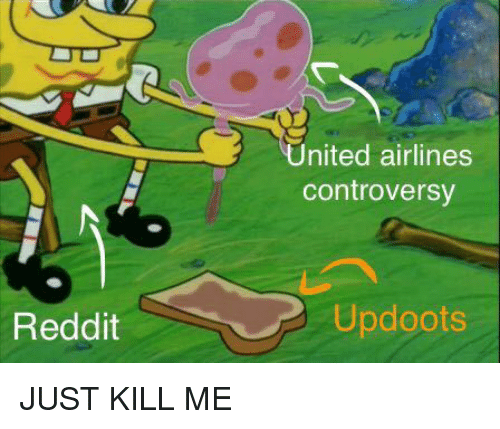 Updoots: nited airlines  controversy  Reddit  Updoots <p>JUST KILL ME</p>