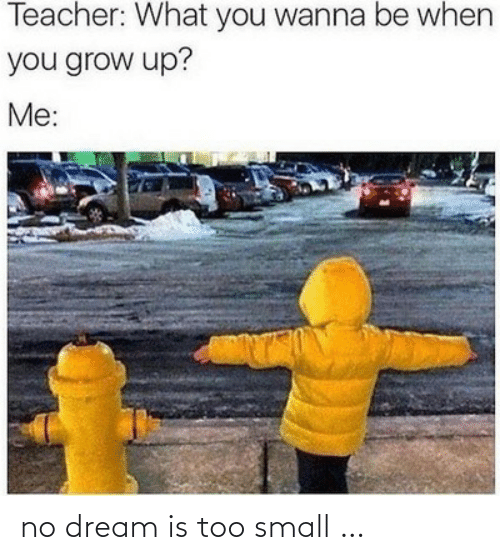 dream: no dream is too small …