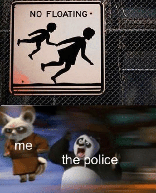 Police, The Police, and Floating: NO FLOATING  me  the police