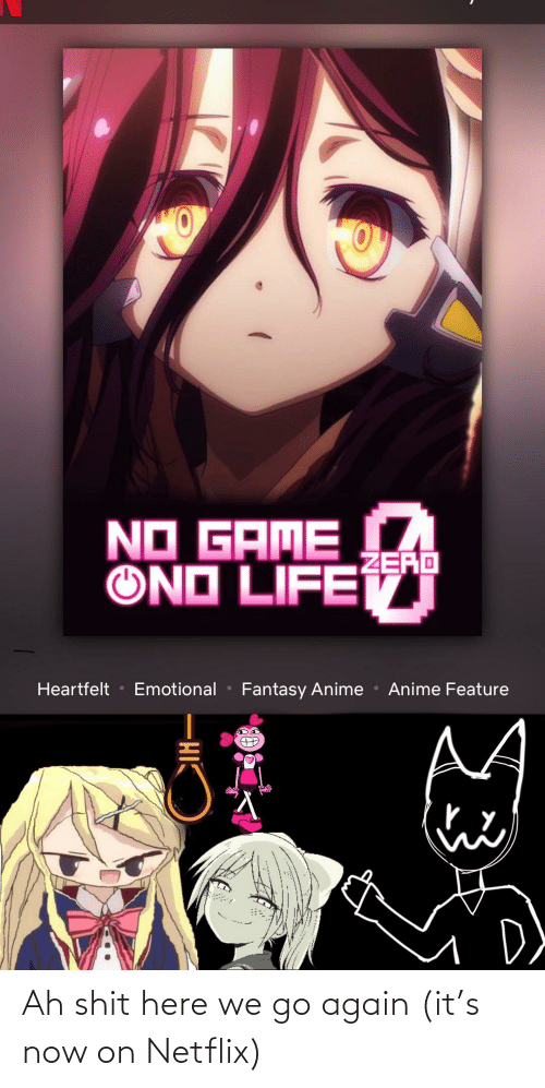 Anime, Netflix, and Shit: NO GAME  ZERO  ONO LIFET  Emotional  Anime Feature  Heartfelt  Fantasy Anime  CIH Ah shit here we go again (it's now on Netflix)