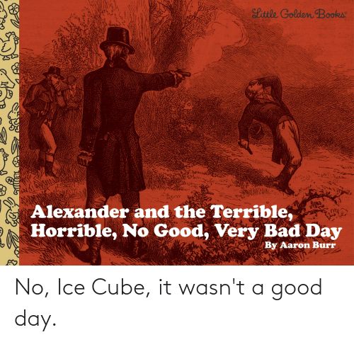 Ice Cube: No, Ice Cube, it wasn't a good day.