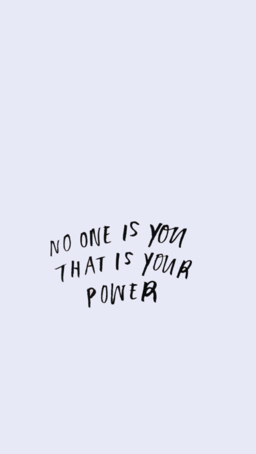 Power, One, and You: NO ONE IS YOU  THAT I YOUR  POWER