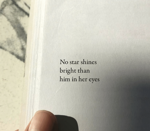 bright: No star shines  bright than  him in her eyes