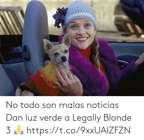 dan: No todo son malas noticias  Dan luz verde a Legally Blonde 3   🙏 https://t.co/9xxUAIZFZN