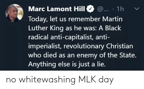 no: no whitewashing MLK day