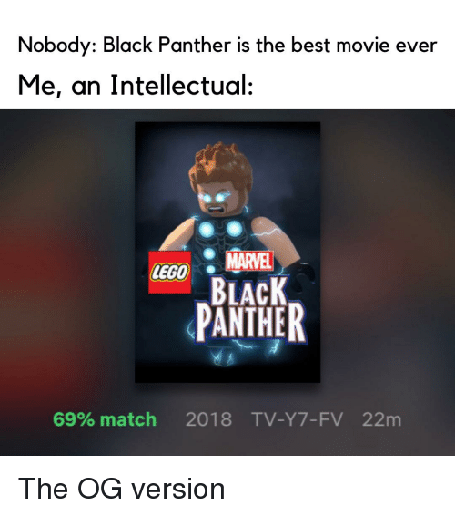 Nobody Black Panther Is the Best Movie Ever Me an