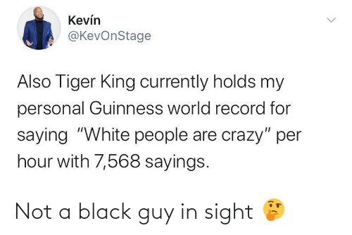Sight: Not a black guy in sight 🤔