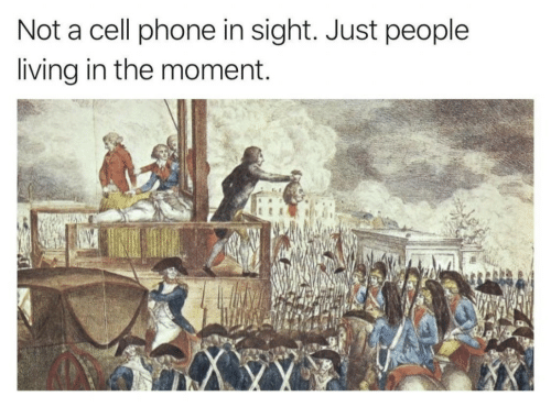 Phone, Living, and Cell Phone: Not a cell phone in sight. Just people  living in the moment.