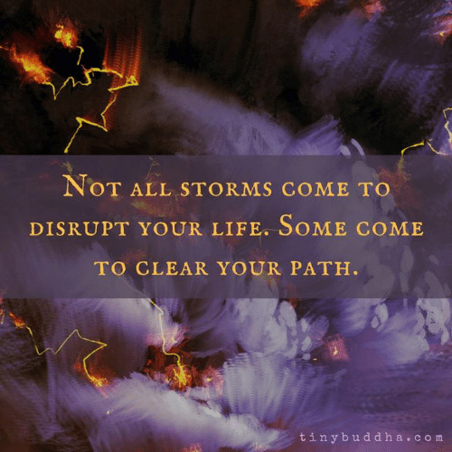 Life, Memes, and 🤖: NoT ALL STORMS COME TO  DISRUPT YOUR LIFE. SOME COME  TO CLEAR YOUR PATH.  tinybuddha.com