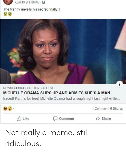 not really: Not really a meme, still ridiculous.