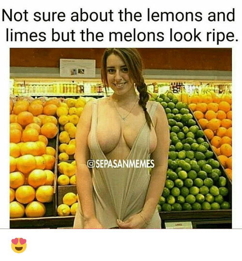melons: Not sure about the lemons and  limes but the melons look ripe.  OSEPASANMEMES 😍