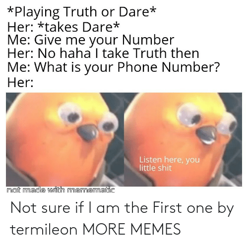 sure: Not sure if I am the First one by termileon MORE MEMES