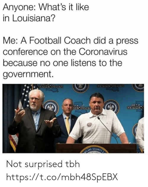 surprised: Not surprised tbh https://t.co/mbh48SpEBX