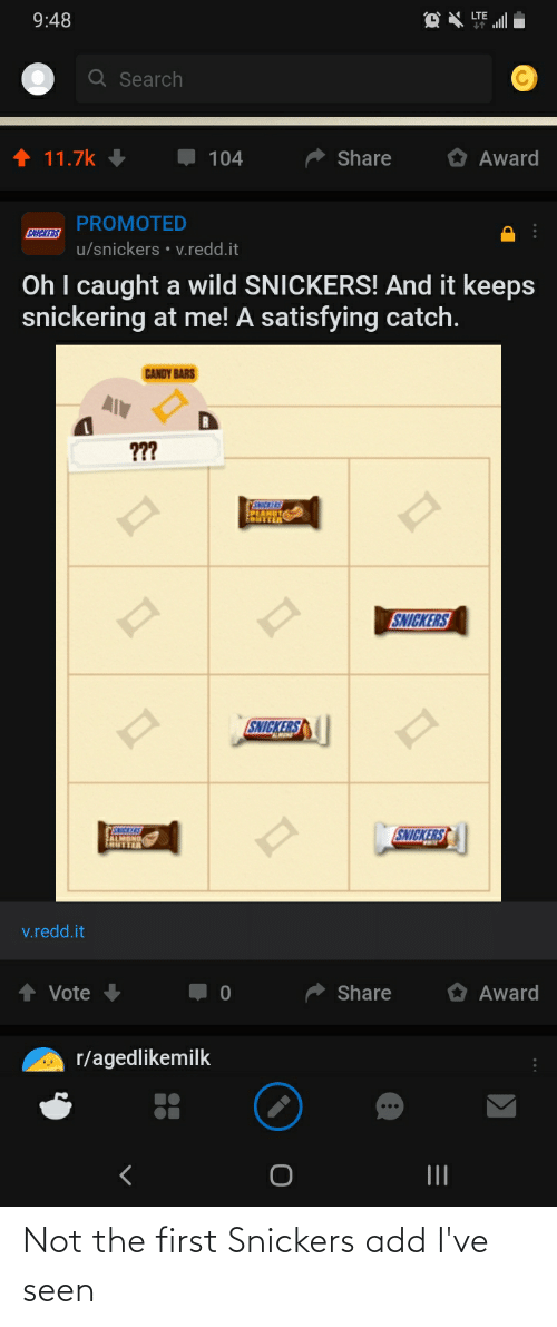 snickers: Not the first Snickers add I've seen