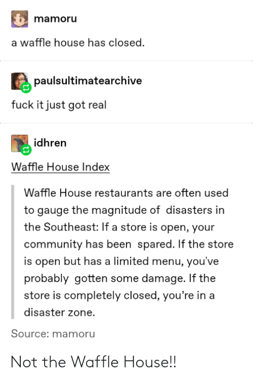 House: Not the Waffle House!!