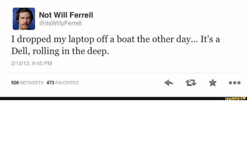 A Dell Rolling In The Deep