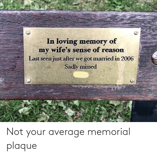 average: Not your average memorial plaque