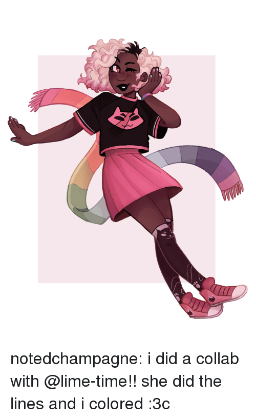 Target, Tumblr, and Blog: notedchampagne:  i did a collab with @lime-time!! she did the lines and i colored :3c