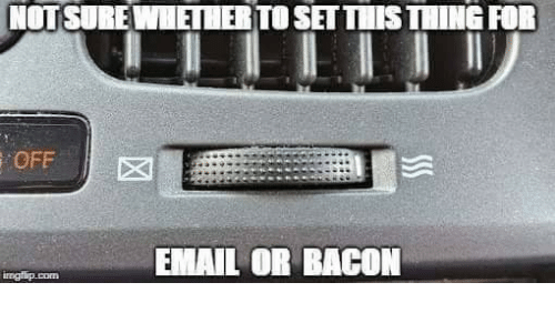 Email, Bacon, and Com: NOTSURE WHETHER TO SET THIS THING FOR  OFF  EMAIL OR BACON  irngflip.com