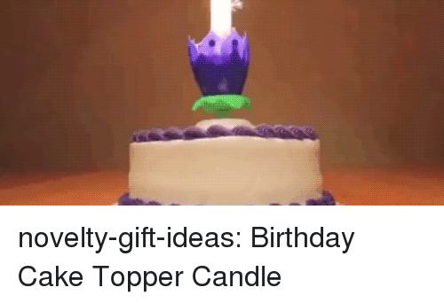 Birthday, Tumblr, and Blog: novelty-gift-ideas:  Birthday Cake Topper Candle