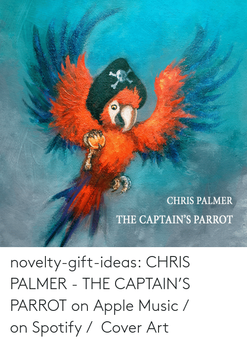 Music: novelty-gift-ideas: CHRIS PALMER - THE CAPTAIN'S PARROT on Apple Music /  on Spotify /  Cover Art