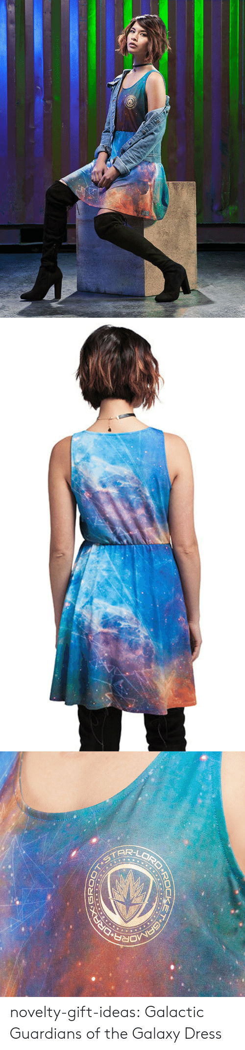 Tumblr, Blog, and Dress: novelty-gift-ideas:  Galactic Guardians of the Galaxy Dress