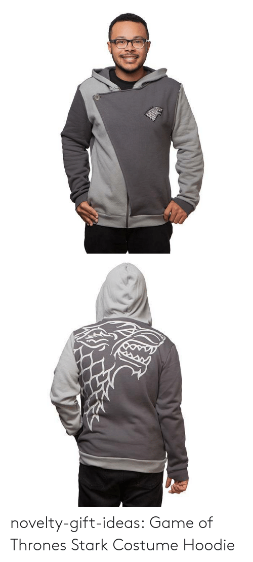 Game of Thrones, Tumblr, and Zoom: novelty-gift-ideas:  Game of Thrones Stark Costume Hoodie