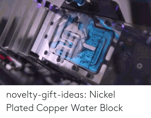 Tumblr, Blog, and Water: novelty-gift-ideas:  Nickel Plated Copper Water Block