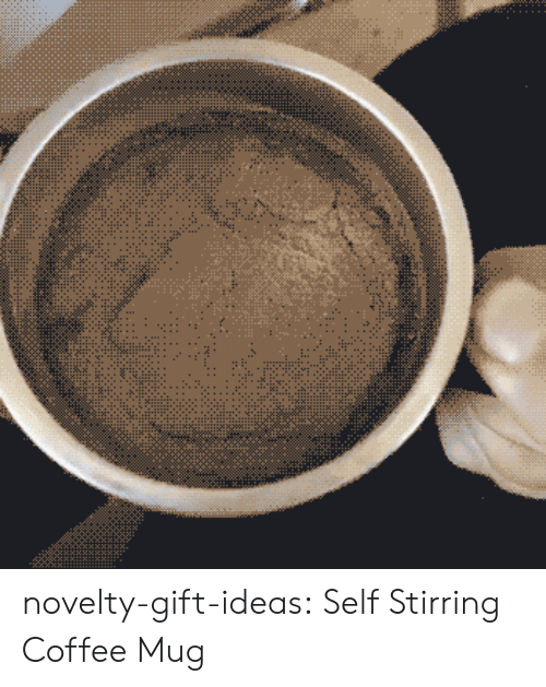 Coffee Mug: novelty-gift-ideas:  Self Stirring Coffee Mug