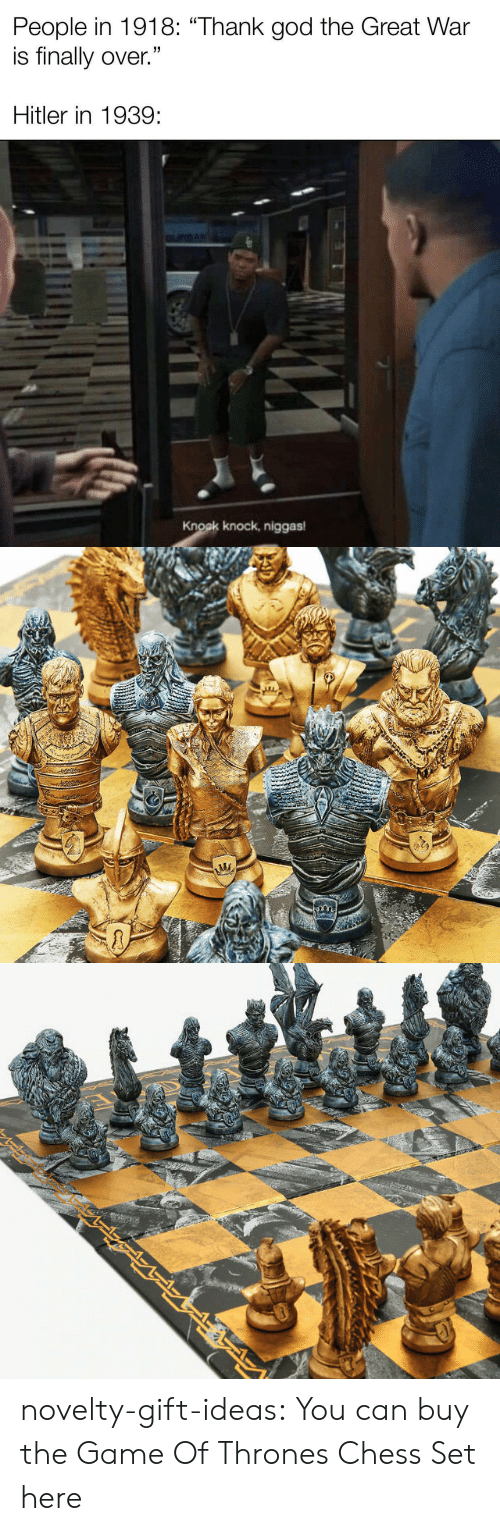Of Thrones: novelty-gift-ideas:  You can buy the   Game Of Thrones Chess Set here
