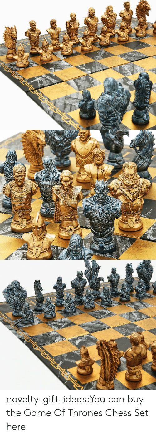 Of Thrones: novelty-gift-ideas:You can buy the   Game Of Thrones Chess Set here