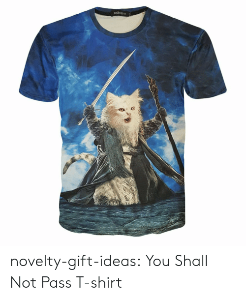Tumblr, Blog, and Cat: novelty-gift-ideas:  You Shall Not Pass T-shirt