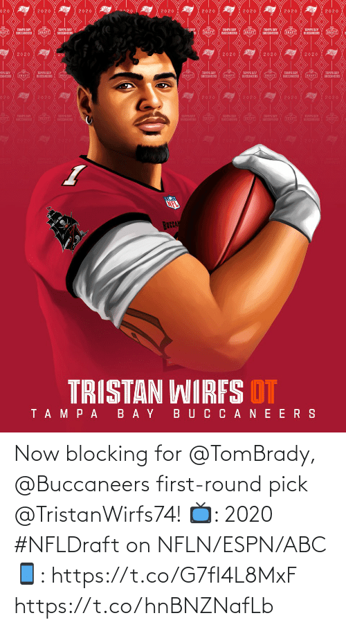 first-round-pick: Now blocking for @TomBrady, @Buccaneers first-round pick @TristanWirfs74!  📺: 2020 #NFLDraft on NFLN/ESPN/ABC 📱: https://t.co/G7fI4L8MxF https://t.co/hnBNZNafLb
