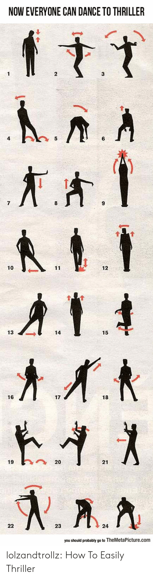 Thriller, Tumblr, and Blog: NOW EVERYONE CAN DANCE TO THRILLER  10  12  13  14  15  16  17  18  1920  21  23  24  you should probably go to TheMetaPicture.com lolzandtrollz:  How To Easily Thriller