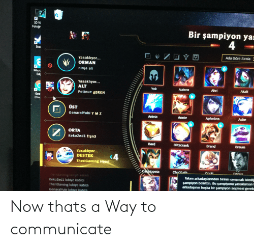 Communicate: Now thats a Way to communicate