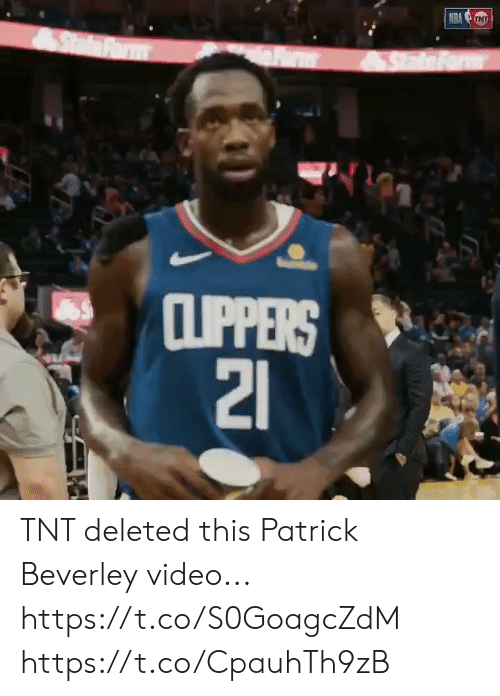 tnt: NRA NT  SdFrm  CLIPPERS  21 TNT deleted this Patrick Beverley video... https://t.co/S0GoagcZdM https://t.co/CpauhTh9zB