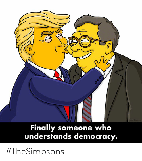 Dank, Democracy, and 🤖: nt  Finally someone who  understands democracy. #TheSimpsons
