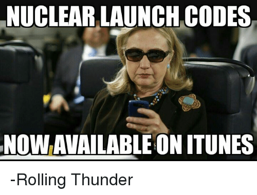 nuclear-launch-codes: NUCLEAR LAUNCH CODES  NOWAVAILABLE ON ITUNES -Rolling Thunder