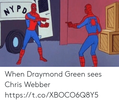 Draymond Green, Sports, and Chris Webber: NYPO When Draymond Green sees Chris Webber https://t.co/XBOCO6Q8Y5