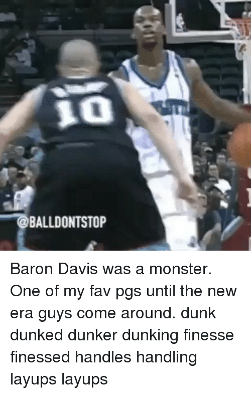 Baron Davis: OBALLDONTSTOP Baron Davis was a monster. One of my fav pgs until the new era guys come around. dunk dunked dunker dunking finesse finessed handles handling layups layups