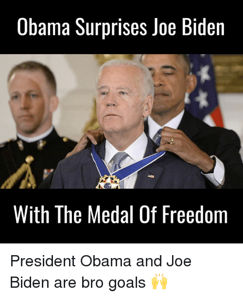 Medal Of Freedom: Obama Surprises Joe Biden  With The Medal Of Freedom President Obama and Joe Biden are bro goals 🙌