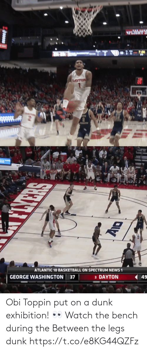 Watch: Obi Toppin put on a dunk exhibition!  👀 Watch the bench during the Between the legs dunk    https://t.co/e8KG44QZFz